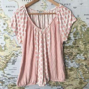 Stretchy boho style shirt